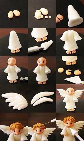 ангел лепка