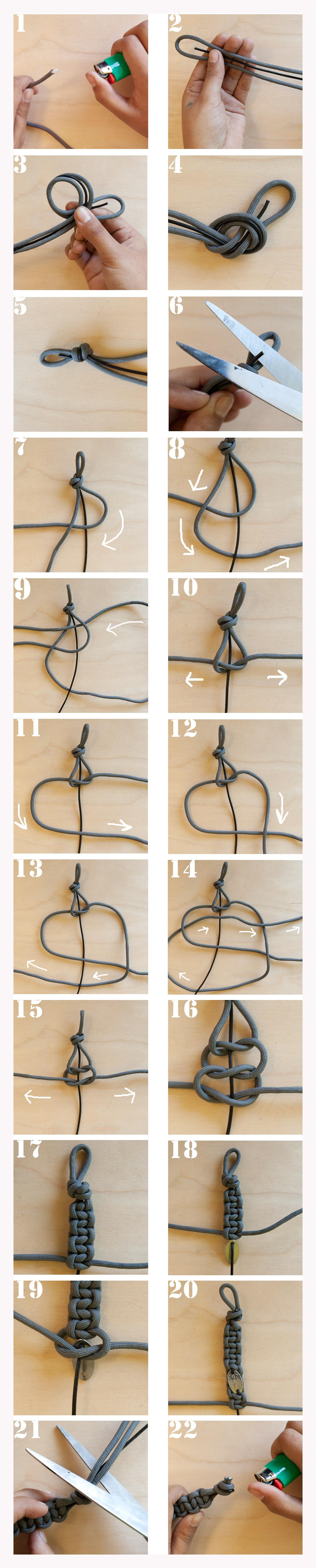 схема плетения из шнурков